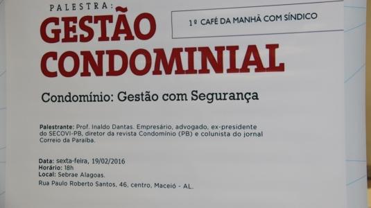 1º Café da Manhã com Síndicos (19/02/2016)