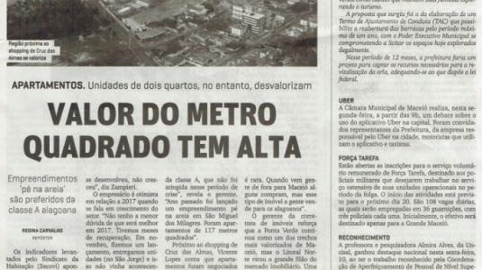 VALOR DO METRO QUADRADO TEM ALTA